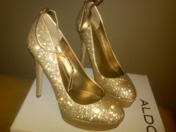 Ohhh Sooo Shiny By ALDO Wedding Aldo Gold Gold Shoes Shoes IMG00379 20101117 2316