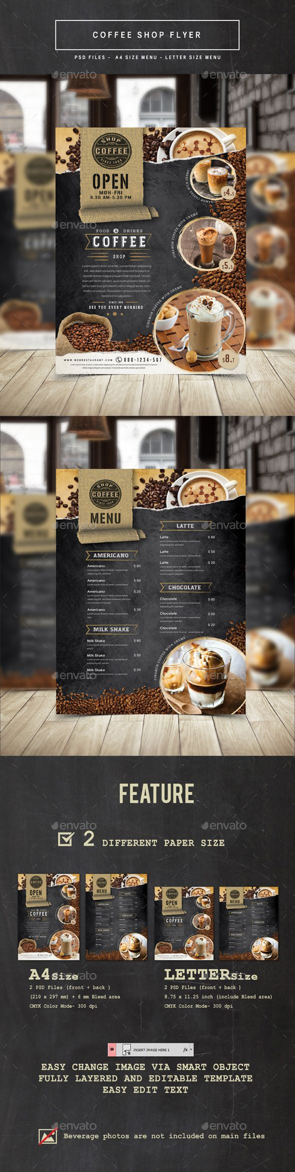 Coffee Shop PSD Flyer Template • Only available here ➝ http://graphicriver.net/item/coffee-shop-flyer/16618174?ref=pxcr