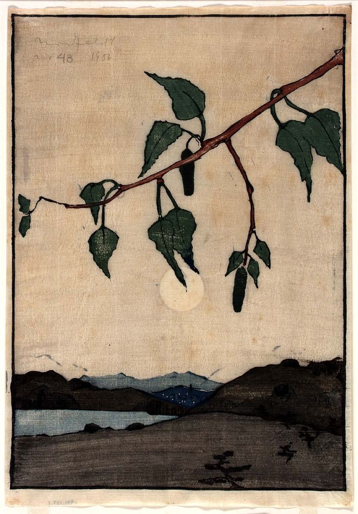 Bror Julius Olsson Nordfeldt (American, born Sweden, 1878-1955), Moonrise, 1906. Color woodcut on paper. Smithsonian American Art Museum, Washington, D.C.