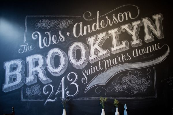 Hand Lettered Chalk Typography By Dana Tanamachi