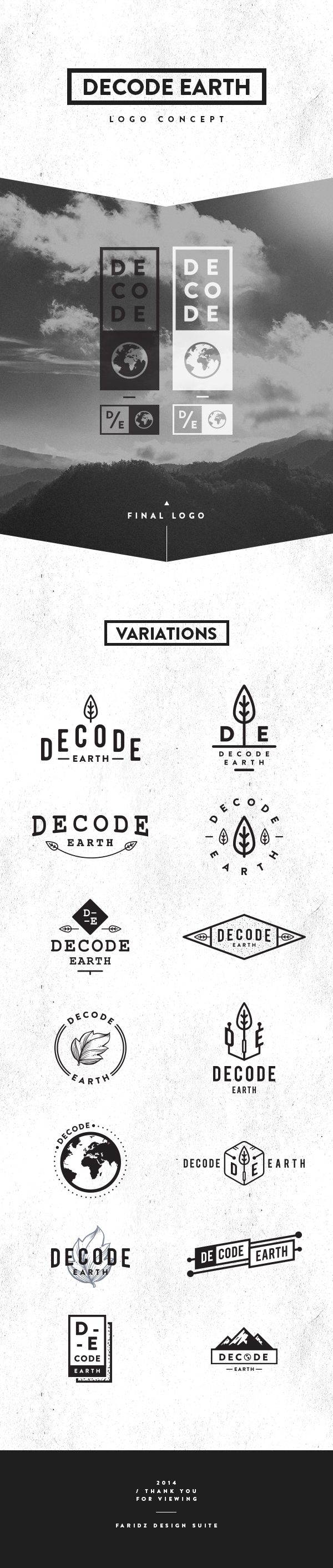 Decode Earth - Logo - Pitch by Faridz Design Suite, via Behance