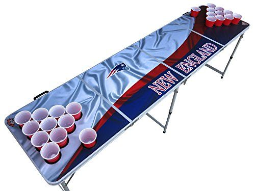 New England Patriots Beer Pong Table with Predrilled Cup Holes
