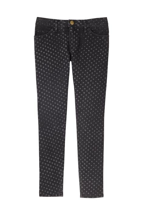 polka-dot jeansA Mini-Saia Jeans, Covet Clothing, Polkadot Jeans, Polka Dots Jeans, Subtle Pattern, Business Jeans
