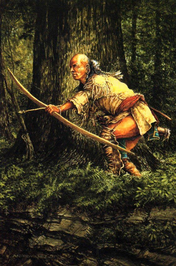 BOW HUNTING OF THE WOODLAND INDIANS by andrew knez
