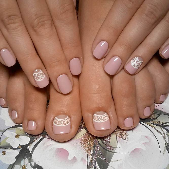 Learn How To Do Manicure and Pedicure In No Time ❤ Elegant Nude Manicure and Pedicure picture 1 ❤ We suggest to learn how to achieve that perfect look at home. What is more, we are more than willing to share with you the trendies shades to inspire from this season! Pick the one that suits you best! https://naildesignsjournal.com/manicure-and-pedicure-ideas/  #nails #nailart #naildesign  #toenails