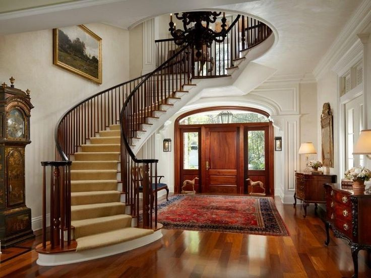 Nice Curved Staircase Stair Entry Ideas Pinterest