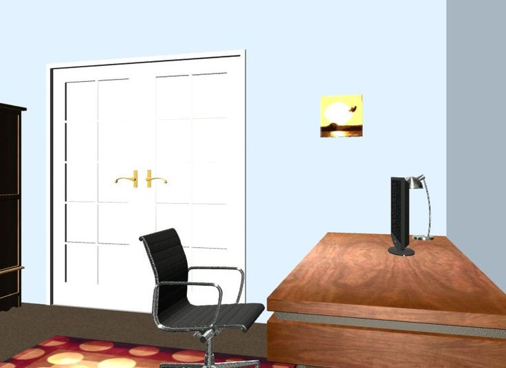 Accessories The Picturesque Home Office With A White Door And A Brown Desk Simple Free