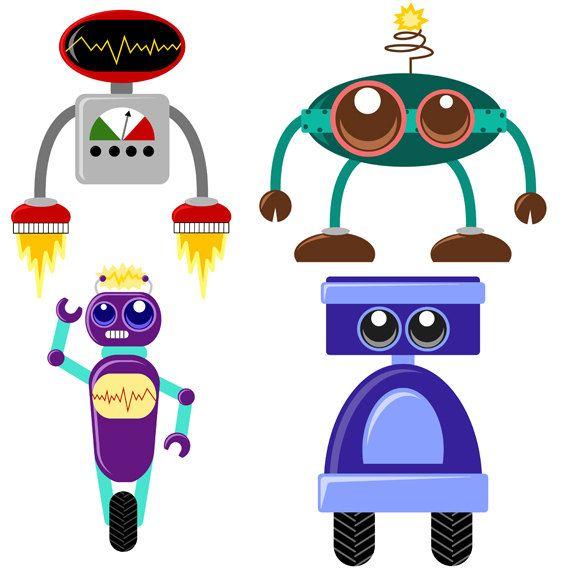 cute robot clipart - photo #12