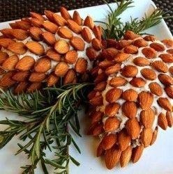 Pine Cone Cheeseball - Christmas Party Appetizer Recipe Ideas.