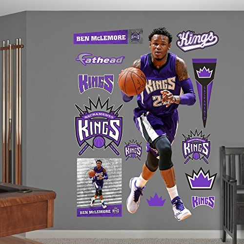 NBA Sacramento Kings Ben McLemore Shooting Guard Fathead Real Big Decals 31W x 78H ** You can get more details by clicking on the image.