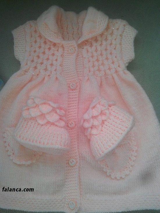 Boğumlu baklava dilimli bebek yelek 4