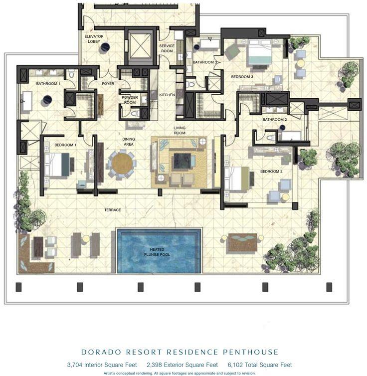 3 Bedroom Apartments In Nyc: Luxury Penthouse Floor Plans