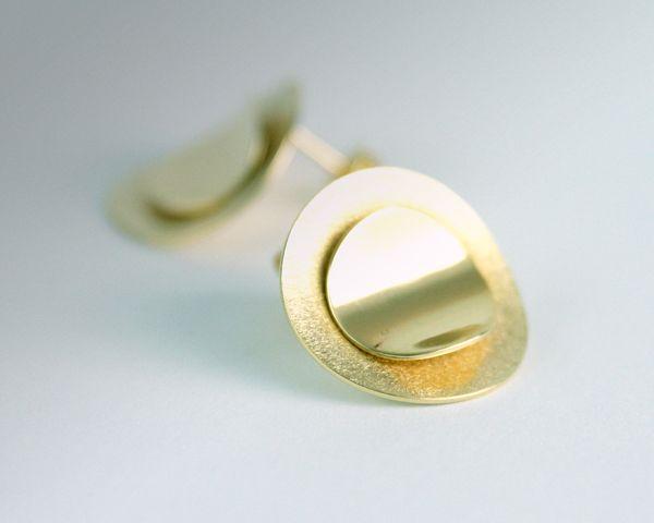 Silver earrings, goldplated
