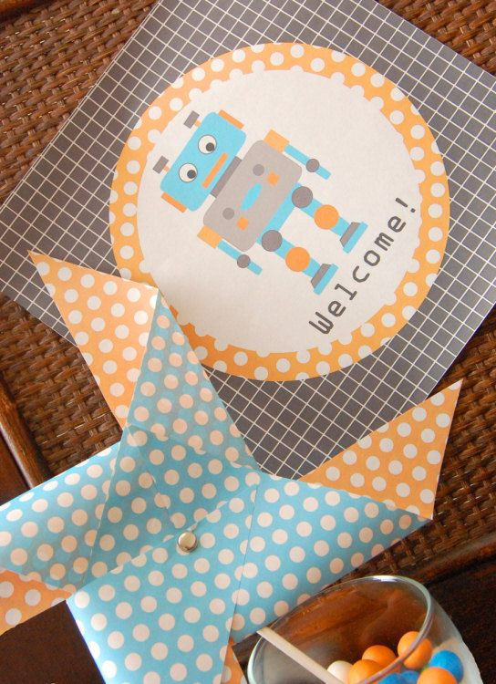 the  best robot baby showers ideas on   robot cake, a, Baby shower invitation
