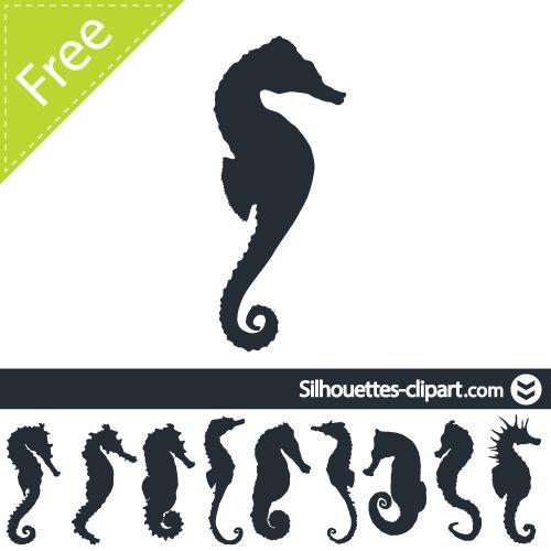 seahorse vector silhouette