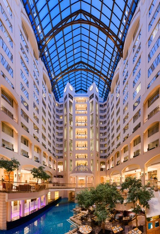 This should look familiar to many of you: Grand Hyatt Hotel Washington DC. Although, the last time I saw it, the roof was covered in snow & we were trapped in DC for almost a week!