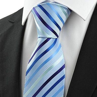 Mens Stylish Blue Jacquard Necktie