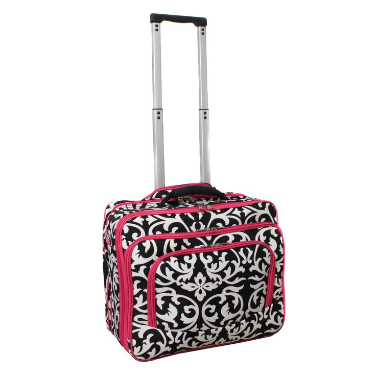 This rolling laptop case makes it fun and comfortable to travel with your laptop in style. This case has plenty of room for all your laptop accessories and features a padded main compartment that will keep your laptop safe on all your adventures.