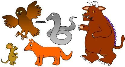 This is felt board printables for The Gruffalo (a book my dd just discovered and loves) but this site has at least 40 activities with books. Awesome!