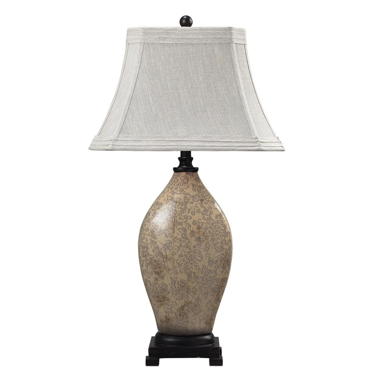 Sterling industries 113 1126 distressed floral ceramic table lamp