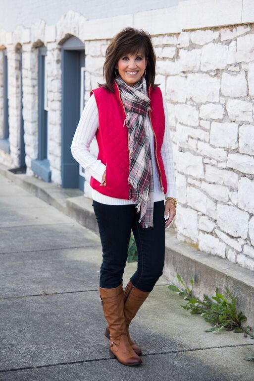 How to: wear a vest for women over 40.