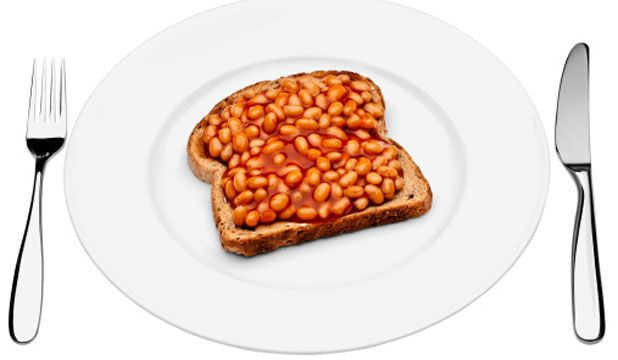 baked beans on toast! Totally a british thing.
