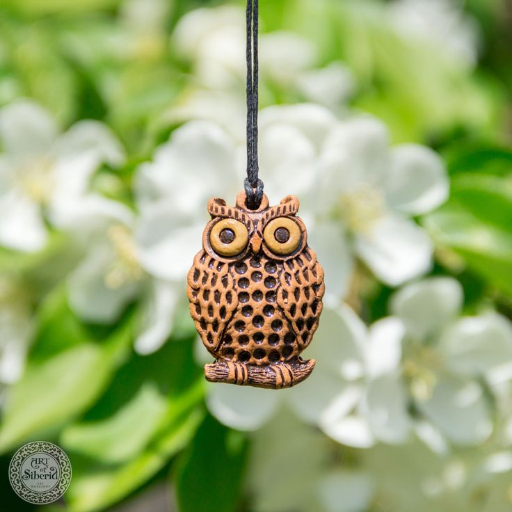 Clay Aromatherapy pendant essential oil perfume necklace Terracotta Clay fragrance diffuser #G43 by ArtOfSIberia on Etsy