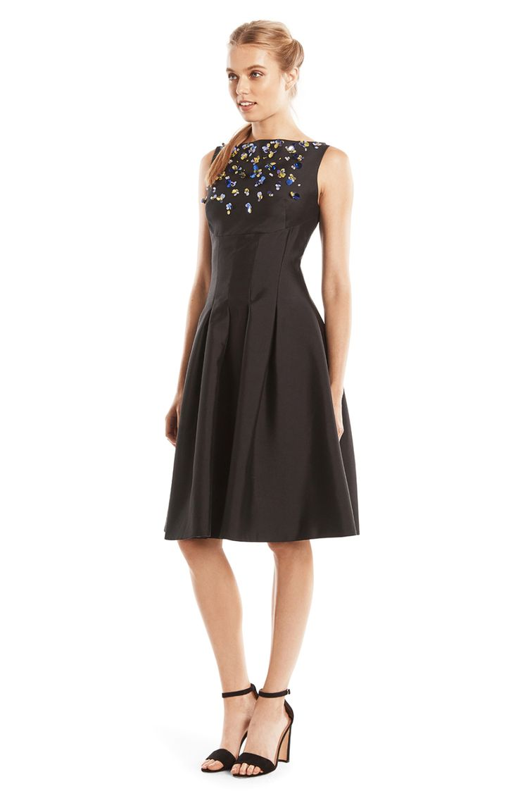 Silk and Wool Embroidered Dress