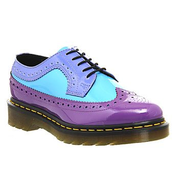 Dr. Martens 3989 Wing Tip Shoe Bright Purple Sunny Dusty Blue - Flats