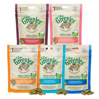 Greenies dental treats for cats. They love them.
