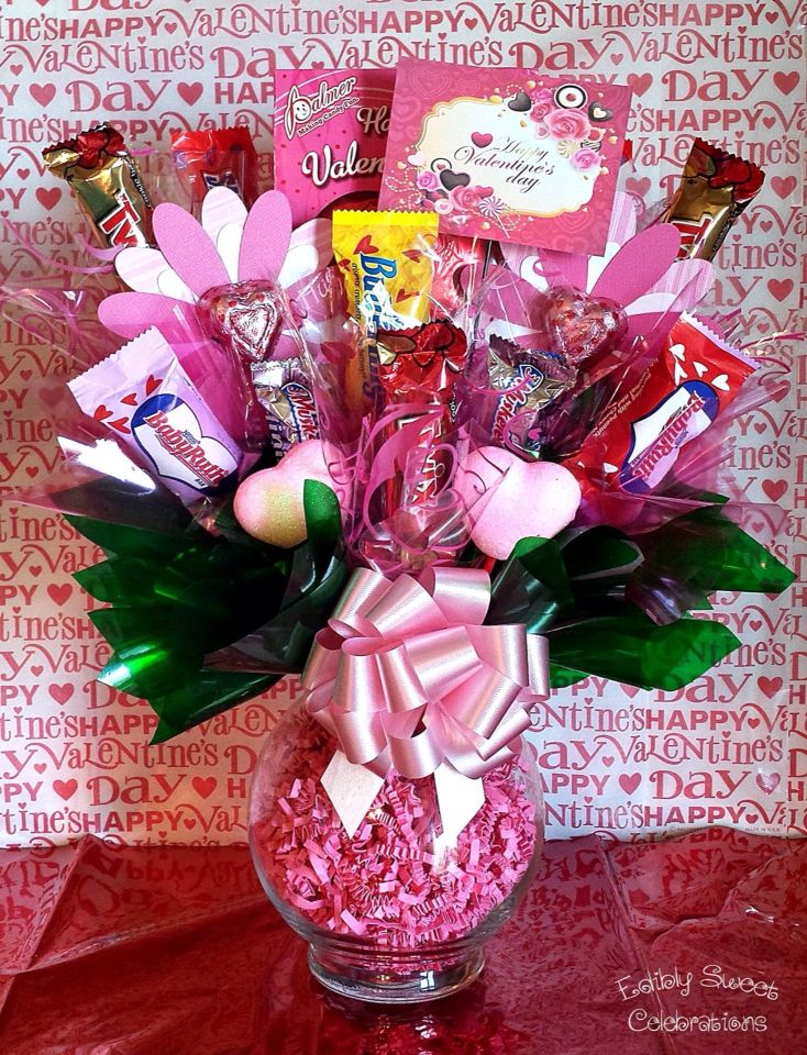 17 best images about candy bouquets on pinterest sweet for Valentine candy crafts ideas