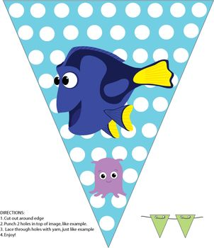 Banner, Finding Nemo, Party Decorations - Free Printable Ideas from Family Shoppingbag.com