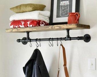 Industrial 36 Pot Rack Shelf. Urban Industrial by HenryLewisHome