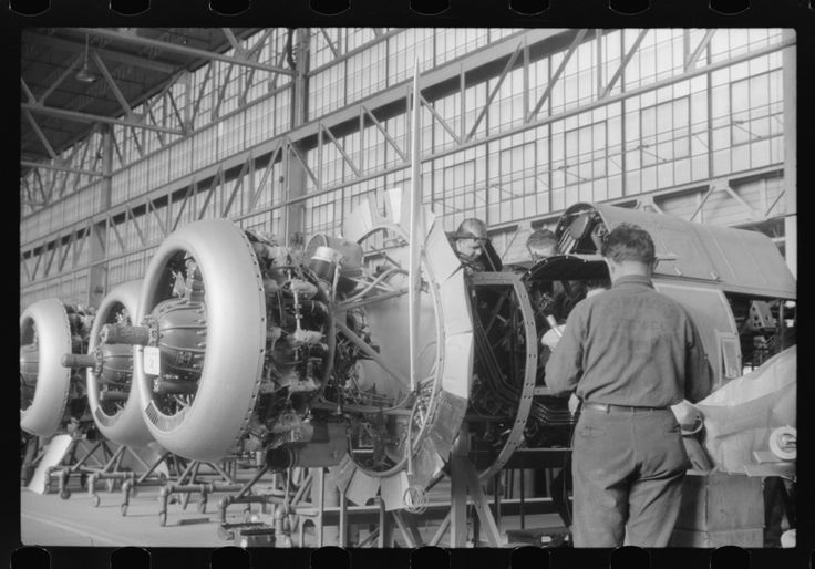 Airplane assembly at the Vought-Sikorsky Aircraft Corporation, Stratford, Connecticut. 1940