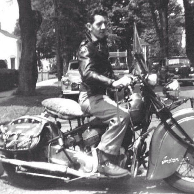 Indian rider in leather.