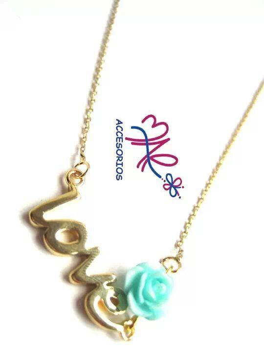 Mar Accesorios ♥ collar love oro golfield #accesorios #accessories #aretes #earrings #collares #necklaces #pulseras #bracelets #bisuteria #jewelry #colombia #moda #fashion