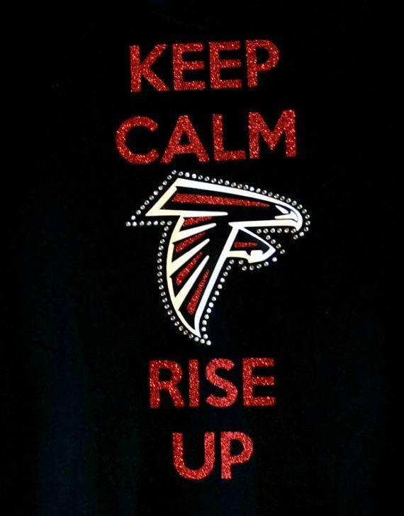 Atlanta Falcons Keep Calm Rise Up Women's Black by BloomCompanyNet, $30.00