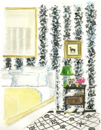 Virginia Johnson Illustration In Deborah Neddlemans Book The Perfectly Imperfect Home Love This Design Watercolors