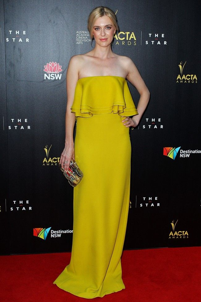 Gracie Otto in Gucci at 2013 AACTA Awards