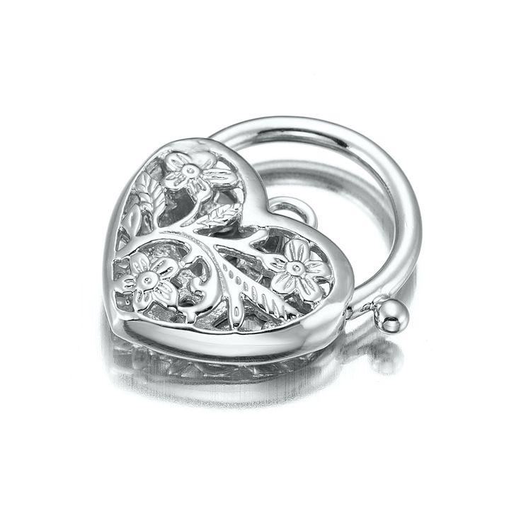 White Gold Layered Filigree Heart Locket | Allure Gold