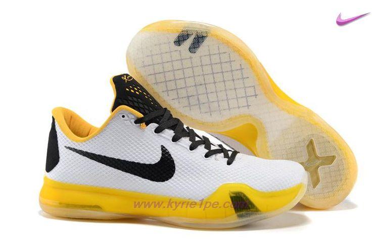 Nike Kobe X Kobe Bryant Bianco/Giallo marche di scarpe