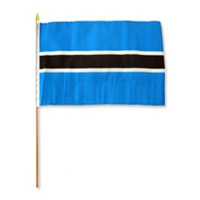 FlagsImporter Botswana Traditional Flag and Flagpole Set