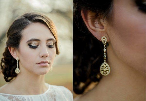 złota panna młoda, złota biżuteria do ślubu, złoty makijaż ślubny