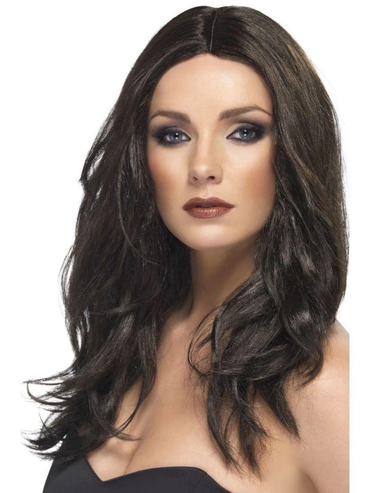 """26 """"Brown Glamour Wavy Long Superstar Frauen Adult Halloween Perücke Kostümzubehör - One Size"""