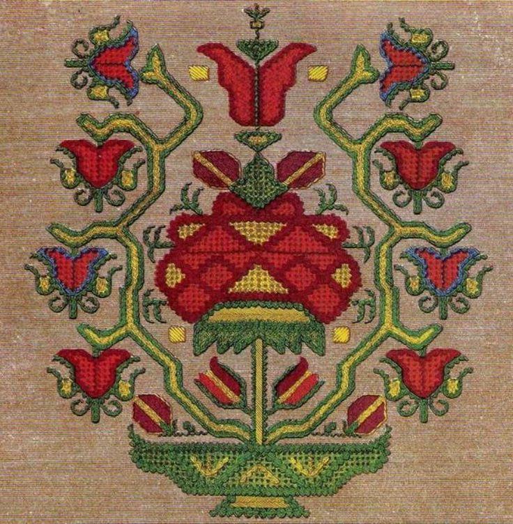 Bulgarian needlework embroidery, c1885