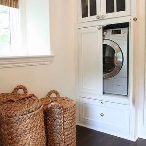 Closet Washer and Dryer, Transitional, closet, M. E. Beck Design