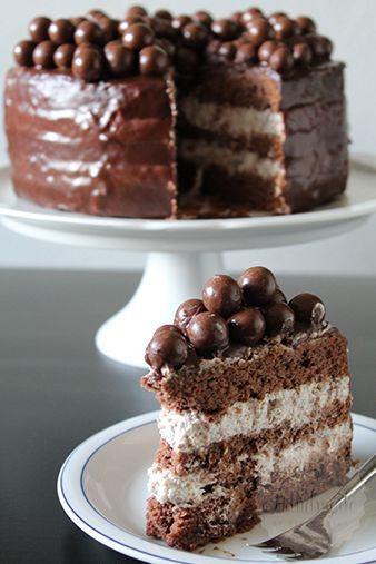 Met zo'n showstopper op mijn eigen verjaardag heb ik mijn broertje ook aangestoken. Voor zijn 20e verjaardag wilde hij een verassende taart. Zoals jullie ondertussen vast zullen weten is hij dol op chocolade. Er was dan ook geen twijfel over mogelijk dat er een andere smaak taart zou komen. Al vaker was mijn oog gevallen op zo'n m&m …