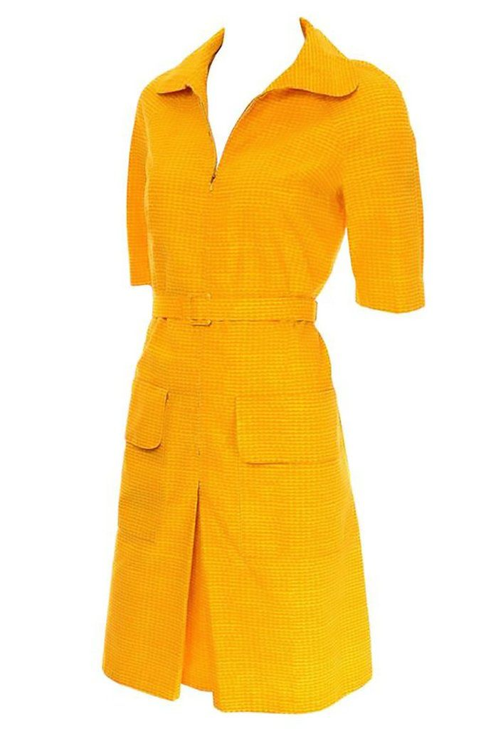 a6efefa22136 60's Marimekko Vintage Dress in Bold Orange & Yellow Cotton Print –  Dressing Vintage
