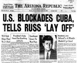 The Cuban missile crisis is known as the October crisis in Cuba and the Caribbean crisis. It was a confrontation in October 1962 between the Soviet Union and Cuba. It is generally regarded as the moment in which the Cold War came closest to turning into a nuclear conflict.