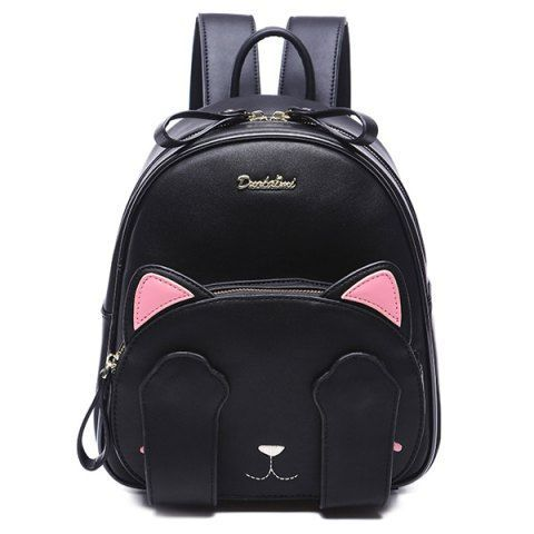 SHARE & Get it FREE | Cute Cat Pattern and Black Design Backpack For…